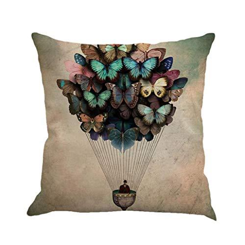 Ode_Joy Farfalla Cuscino in Lino Throw Waist Pillow Case Sofa Home Decor-Pillowcase Chiusura...