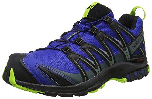 Salomon XA Pro 3D GTX, Scarpe da Trail Running Uomo, Blu (Mazarine Blue Wil/Black/Lime Green), 44 EU