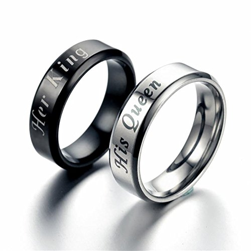 c87e207004 Moneekar Jewels 2pcs Premium Quality Matching Set Couple Rings His ...