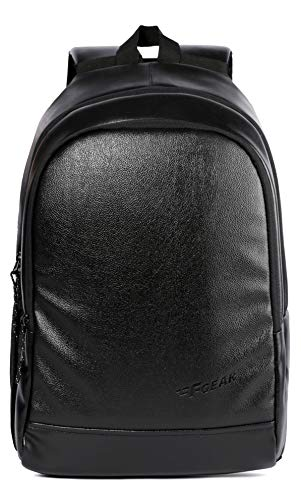 F Gear Castle Art Leather 24 Ltrs Black Casual Backpack (3153)