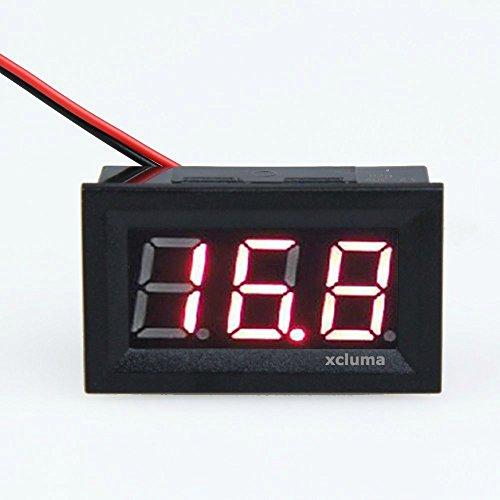 Xcluma Mini 4.5-30V DC Digital Voltage Panel Red Digital LED Voltmeter Car Bike