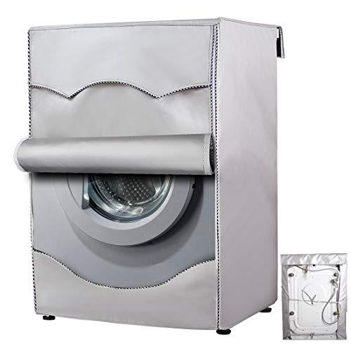 Mr.You Copertura Lavatrice per Le lavatrici con Aperture Anteriori Impermeabile Argento Taglia Larga...