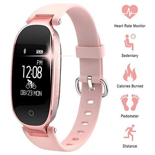 WOWGO Fitness Tracker Donna Cardiofrequenzimetri Conta Passi IP67 Impermeabile Podometro Bracciale...