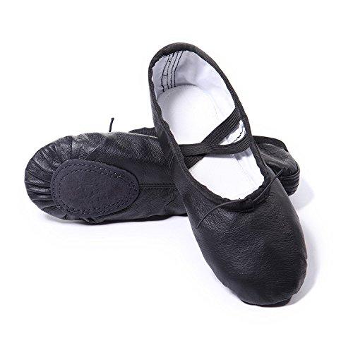 DoGeek Scarpe da Ballerina Scarpe da Ballo Mocassini Danza Classica per Scarpe da Danza£¬35,Nero