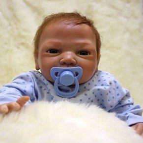 ZIYIUI Reborn Muñecas Bebé Suave Vinilo de Silicona 20 Pulgadas 50 cm Bebe Reborn niño Lifelike Realista Regalo de…