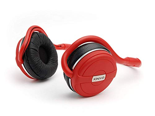Kinivo BTH240 Limited Edition Bluetooth Stereo Headphone - Supports Wireless Music Streaming and Hands-Free Calling (Hot Red)