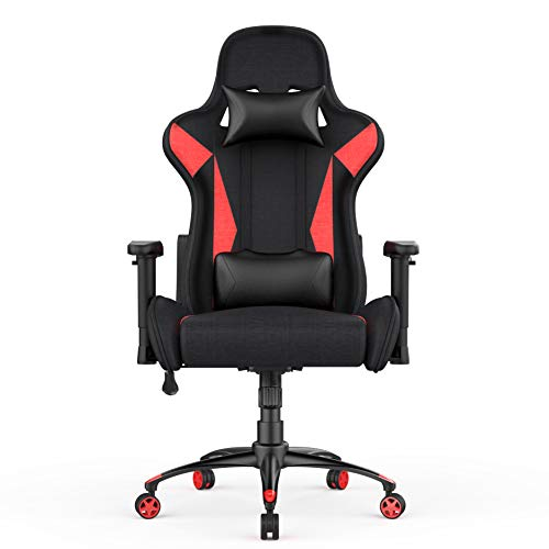 AmazonBasics - Sedia da ufficio e da gaming, design Racing, rosso