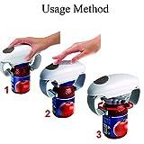 Frazazy Apriscatole Automatico Elettrico in plastica, Alimentato a Batteria, Regolabile, Facile da Aprire e Aprire Le lattine, Gadget da Cucina