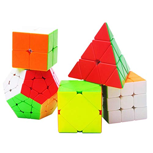 TOYESS Speed Cube Stickerless Set,Pyraminx Pyramid ,Megaminx Dodécaèdre,Skewb Cube ,Speed Cube...