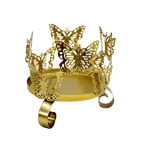 TONGDAUR Candeleros 3D Mariposa Candle Holder Soporte de la Vela Decoración Festival Ornamento del Arte del Partido de la palmatoria de la Boda (Color : Oro, Size : A1)