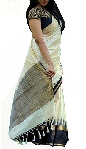 Sarees (Women's Clothing Saree For Women Latest Design Wear Sarees New Collection in WHITE Coloured WEIGHTLESS GEORGETTE Material Latest Saree With Designer Blouse Free Size Beautiful Bollywood Saree For Women Party Wear Offer Designer Sarees With Blouse Piece)