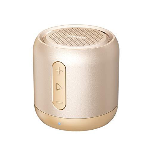 Anker SoundCore Mini Super Mobiler Bluetooth Lautsprecher Speaker mit 15 Stunden Spielzeit, 20 Meter Bluetooth Reichweite und Starkem Bass (Golden)