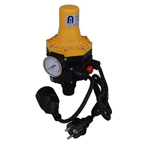 Agora-Tec Pumpen Druckschalter AT-DWv-3 mit Kabel zur Pumpensteuerung für Kreisel-, Tauch-...