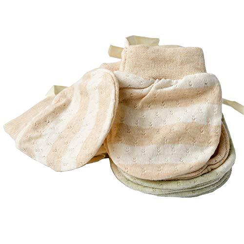 Muffole ultra sottili per neonati, anti graffio, in cotone biologico, traspiranti, anti e...