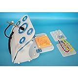 Lista di configurazione del pacchetto:1. Aprire la scatola di addestramento di simulazione2, l'interfaccia USB di endoscopio asta dritto dedicata alla simulazione3, 4 moduli di allenamento standard:Modulo di cucitura in finta pelle 3D, modulo di perf...
