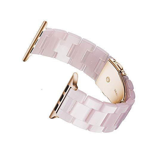 Cinturino XPC Cinturino in resina per orologio Cinturino 44mm Serie Iwatch 5 4 3 2 1 Accessori orologio 42mm Anello 38mm Sostituzione cinturino 40mm 38mm 40mm Rosa