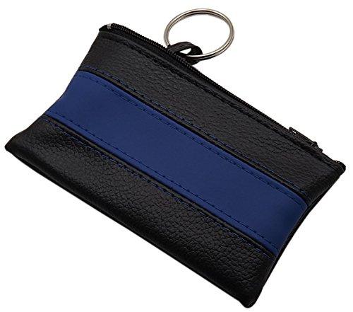 Sacchetto chiave con 1 scomparto con chiusura lampo in 3 diversi colori (Nero/Blu)