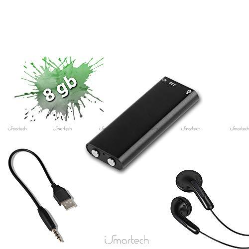 Micro Mini Registratore Vocale Audio Spia 8 GB USB Spy Voice Recorder