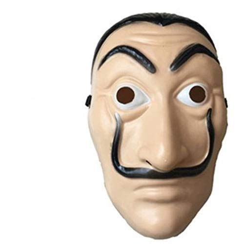 Ldshop Maschera Dali Mask Salvador Dali Maschera La Casa De Papel Mascara Realistico Prop Face Mask Cosplay Costume Party Mask La Casa Di Carta