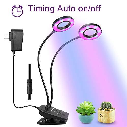 LED Luci per Piante, Muizlux 20W Doppio Lampade per Piante con Spettro Rosso/Blu e Collo d'oca...