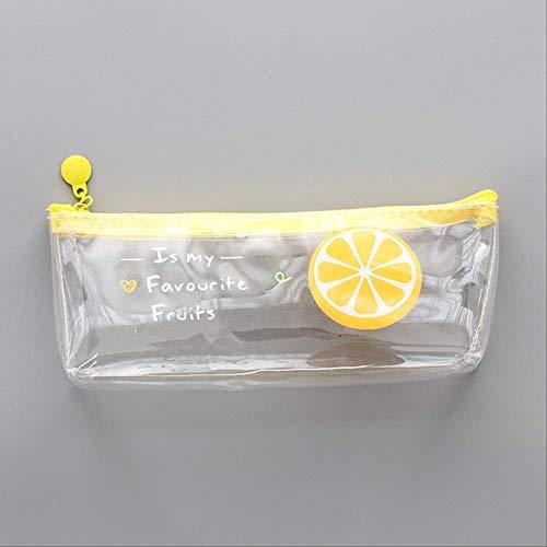 FZK886 Astuccio per matite trasparente di frutta carina Etui Kawai Astucci per matite di fragole...
