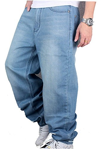 Cystyle Herren Hip Hop Jeanshose Hellbalu Hipster Style Baggy Jeans...