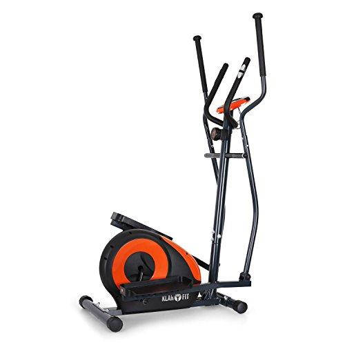 Klarfit Ellifit FX 250 bicicleta elíptica (para un peso corporal máximo de 110 kg, 150 cm de altura, 25 kg de peso, con pulsómetro, zancas antideslizantes, pantalla LCD)