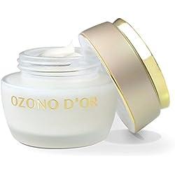 OZONO DOR. L'ozono crema viso anti-invecchiamento. 50 g. Si tratta di un anti-rughe crema rigenera naturalmente, a base di olio extravergine di oliva) Ecologico e ozono. Si tratta di una crema idratante, antiossidante e ossigenante crema naturale grazie alla Monozólidos formati allo svincolo di entrambi i composti. Ridona elasticità alla pelle ed è molto efficace per le rughe, linee sottili, macchie...