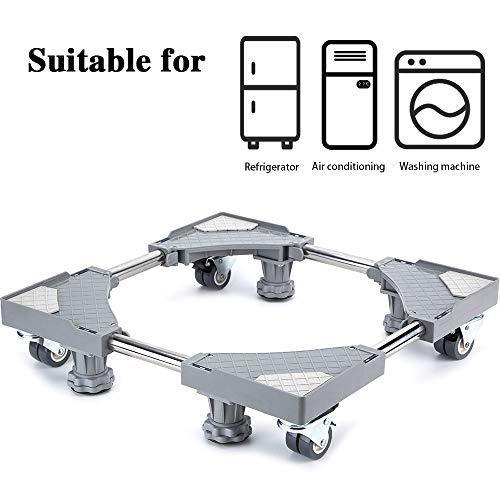 Smonter multi-funzionale mobili base regolabile con 4× 2bloccaggio gomma ruote girevoli e...