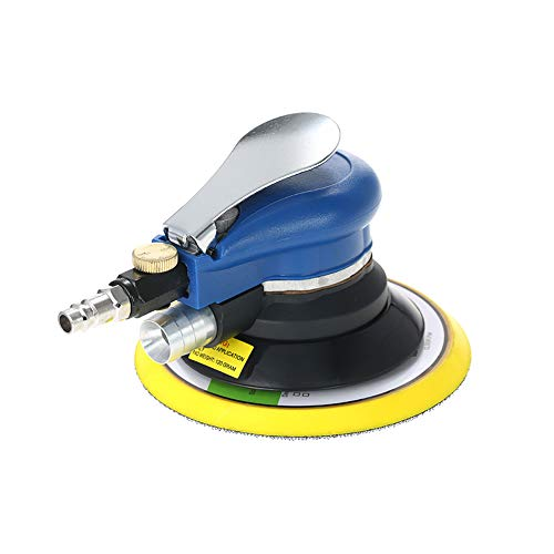 Docooler 6 Inches 10000 RPM Dual Action Pneumatic Aluminium Alloy and Plastic Air Sander Electric Car Paint Care Tool Polishing Machine (Blue)