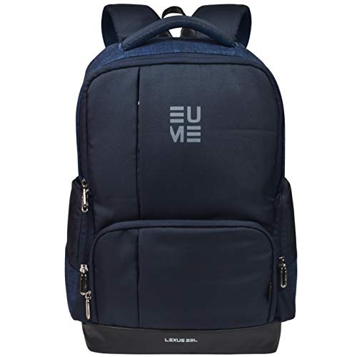Eume Lexus 22 LTR Laptop Backpack for 15.6 inch Laptop and Polyester Water Resistance Backpack- Navy Blue