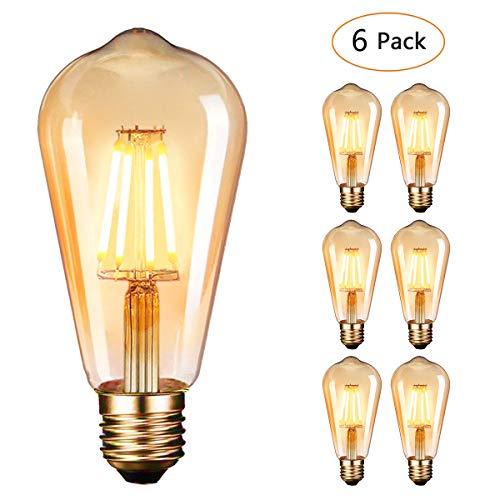LED Lampadina Vintage Edison 4W 220V E27 2600-2700K 400LM Edison lampadina Vintage Retro Stile...