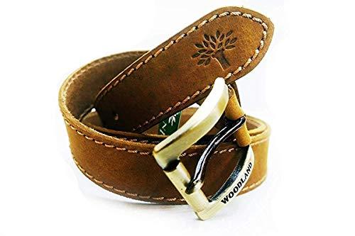 Woodland Men's Leather Belt (34)