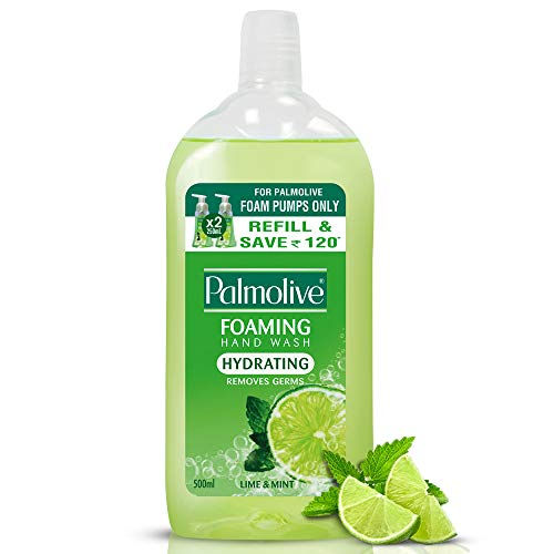 Palmolive Hydrating Foaming Hand Wash, Lime and Mint - 500 ml (Refill Pack)
