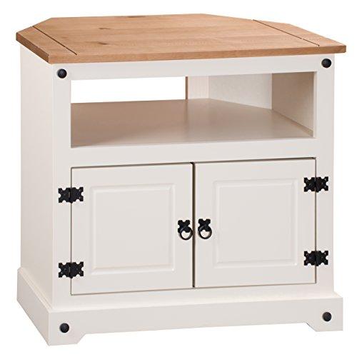 Mercers Furniture Corona-Mobile ad Angolo per TV, Legno, Colore: Panna/Pino Antico