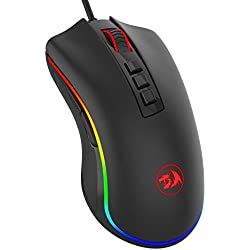 Redragon Cobra M711 Wired Gaming Mouse with 7 Programmable Buttons and Backlight (Black)