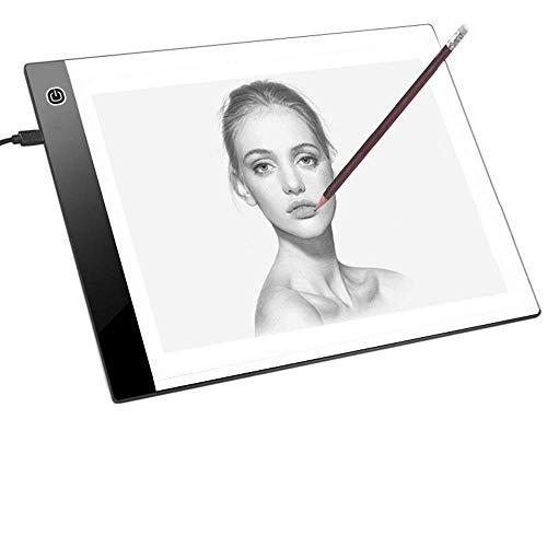 JZK 33.5 x 23.3 cm tavoletta luminosa ricalco A4 3-livelli Luminosità Regolabile, pad luminoso,...