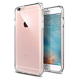 Kaufen iPhone 6S Hülle, Spigen® [Ultra Hybrid] Luftpolster-Technologie [Crystal Clear] Einteilige Transparent Handyhülle Durchsichtige PC Rückschale mit Silikon TPU Slim Bumper Schutzhülle für Apple iPhone 6/6S Case Cover - Crystal Clear (SGP11598)