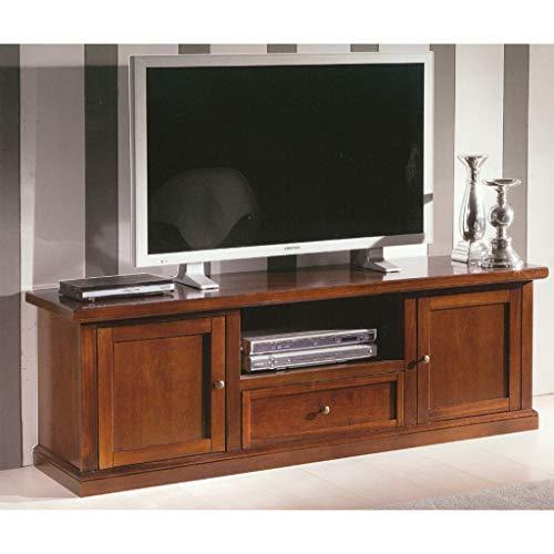 Milani Home s.r.l.s. Mobile TV Porta TV Tinta Noce 45 X 160 X 56 per Interno Sala da Pranzo Salotto...