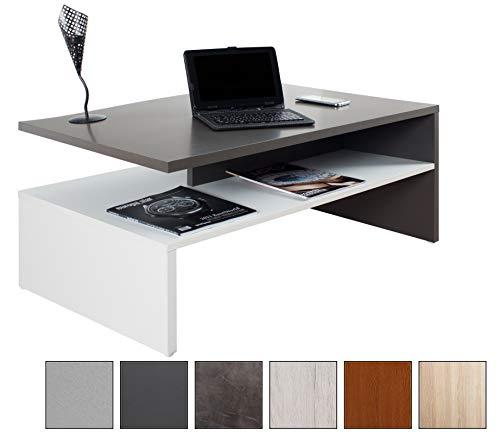 RICOO Tavolino Basso da Divano da Soggiorno Design WM080-W-A Tavolo da Salotto Giorno Mobile da...