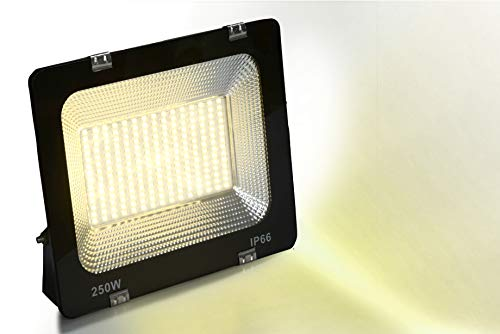 Happy Selling 250 Watt Waterproof Warm White (Yellow) Colour Dura Slim Flood Light for Outdoor Purposes (Pack of 1)
