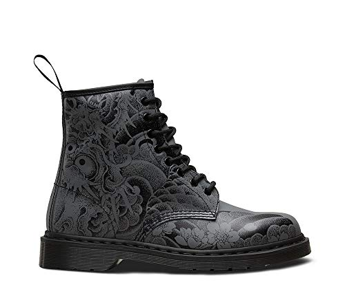 Unisex Adults Dr Martens 1460 Print Orignals Tattoo Backhand Ankle Boots - Tattoo Grey - 9