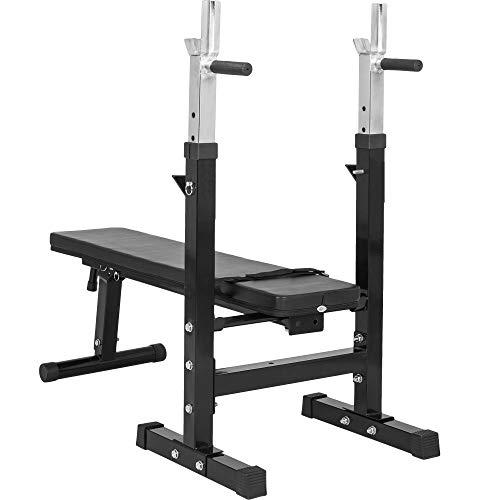 Gorilla Sports GS006 Banc de musculation avec support de barre