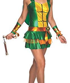 Teenage Mutant Ninja Turtles Classic TMNT Michelangelo Women's Costume Dress Large
