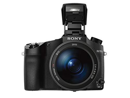Sony Cybershot DSCRX10M3 - Cámara digital de 20.1 MP (lente zoom de 24-600mm, apertura de F2,4-4, motor Bionz X, sensor CMOS, 4K, Full HD), negro