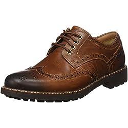 Clarks Montacute Wing 203517867080, Chaussures basses homme - Marron-TR-E1-353, 42 EU