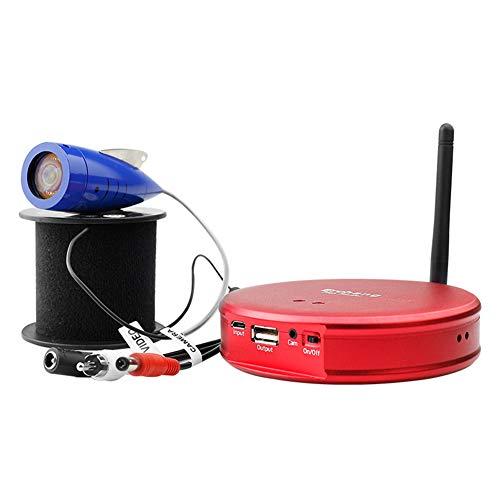 Cacoffay Portatile Wi-Fi Versione Pesce mirino Supporto 2 Cellulare Cellulari A Orologio Telefono Ricarica Video Pesce mirino Telecamera Riproduzione Notte Visione Pesca Dispositivo,Rosso