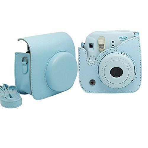 Gearmax® Bolsa de Funda Protectora Para Fujifilm Instax Mini 8 (Cuero Sintético PU)(Azul)