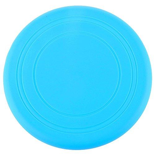 Cdet 1X Perro de Juguete de Mascota Perro de Entrenamiento de Frisbee platillo Volante Silicona Mordiendo diámetro 18cm Azul