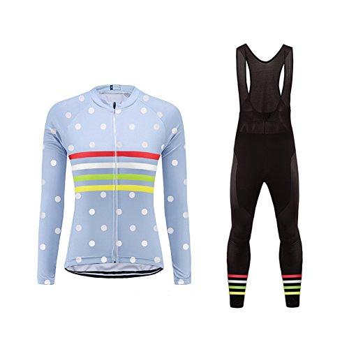 Uglyfrog Ropa Mujer Primavera y Otoño Conjunto de Ropa de Ciclismo - Jersey de Manga Larga y Zip Completo+ Pantalones Largos Cómodo Respirable Secado Rápido - Ropa Deportivo para Bicicleta de Montaña